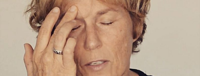 Release tension around your eyes by massaging the occipitofrontalis muscle along your eyebrows